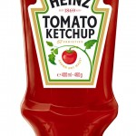 Upside-down Heinz Ketchup Bottle