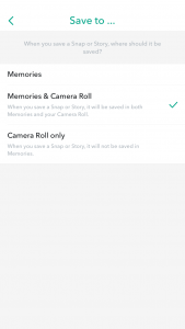 Enable Snapchat save to Camera Roll Stage 4